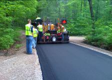 Laying blacktop